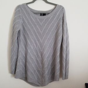 Grey with a touch of shiny silver sweater dress